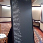 Place Settings Chalkboard - First Column