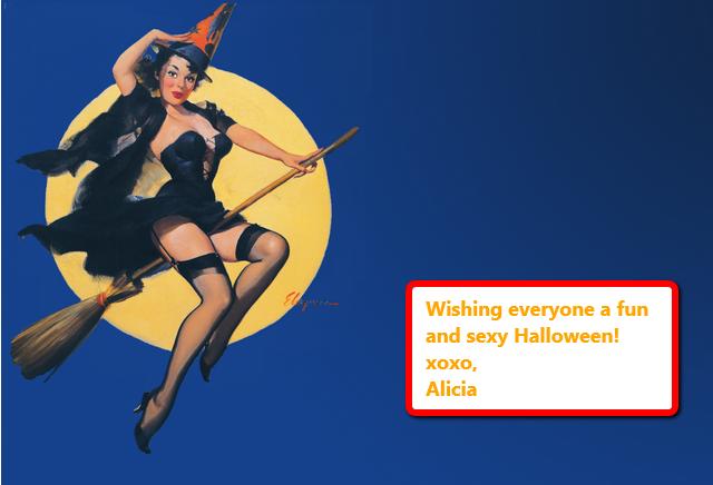 Elvgren Pinup Witch