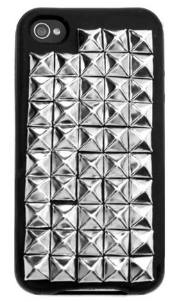 Silver Studded Black iPhone Case via GypsyWarrior.com