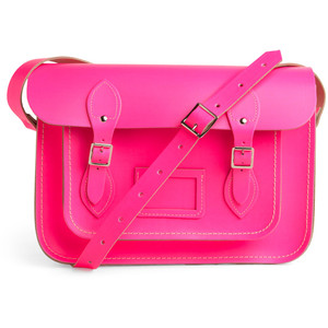 Upwardly Mobile Satchel in Neon Pink 13&quot;