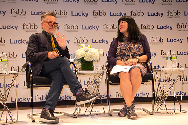 Simon Doonan interviews Anna Sui at Lucky FABB
