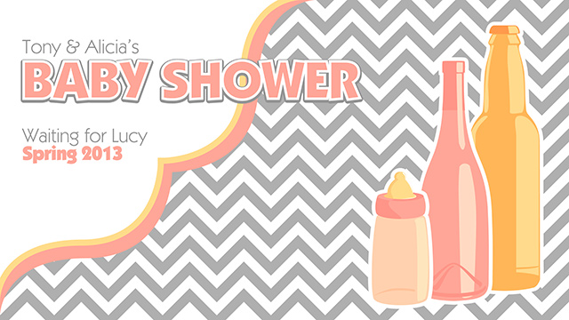 Bottle Themed Baby Shower Poster