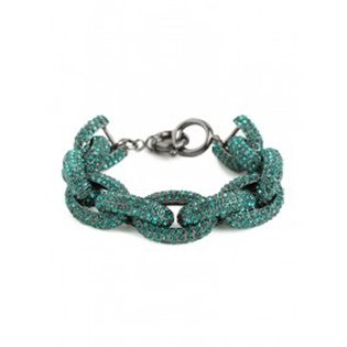BaubleBar Emerald Pave Links Bracelet