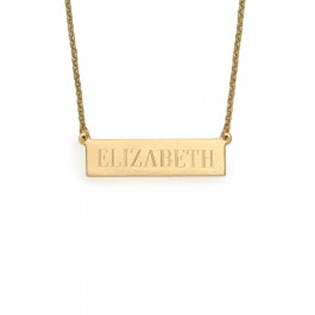 BaubleBar Engraved Bar Necklace