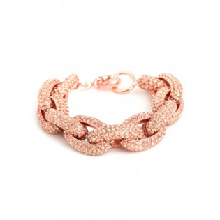 Bauble Bar Rose Pave Links Bracelet