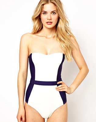 ASOS-Contrast-Panel-Belted-Bandeau-Swimsuit