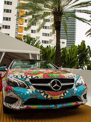 Mara Hoffman Swim 2014 Printed Mercedes Benz at MBFW Swim