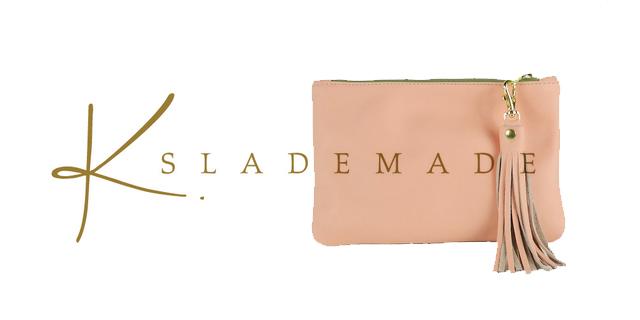 K. slademade, pink pastel leather clutch
