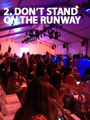 The 5 Cardinal Rules of Fashion Show Attendance | Fashion Show Etiquette