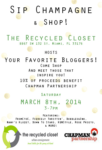 Miami Fashion Blogger Event at The Recycled Closet | Bubbles & Ink