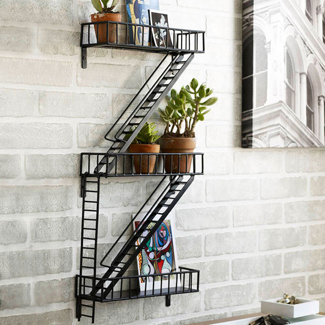 Dot and Bo Fire Escape Shelves