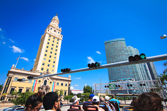 Miami Film Month Bus Tour Two Much Screening Miami Freedom Tower