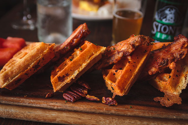 Waffles-and-Bacon-at-Swine-Brunch