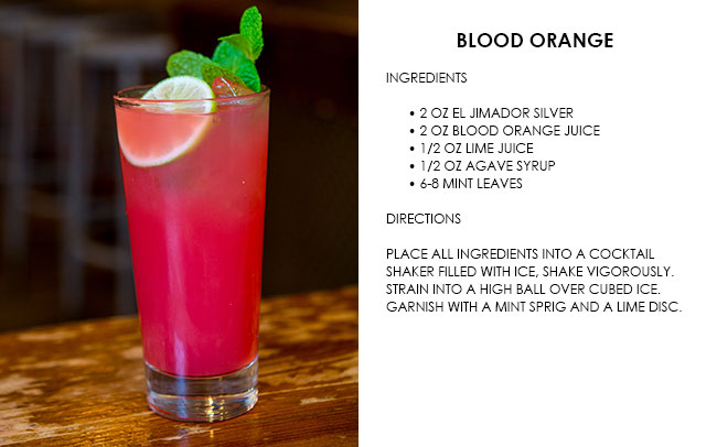 halloween cocktail recipe card blood orange drink tequila
