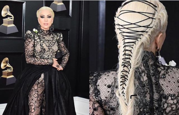 Lady Gaga 2018 Grammys Hair Tutorial by Frederic Aspiras
