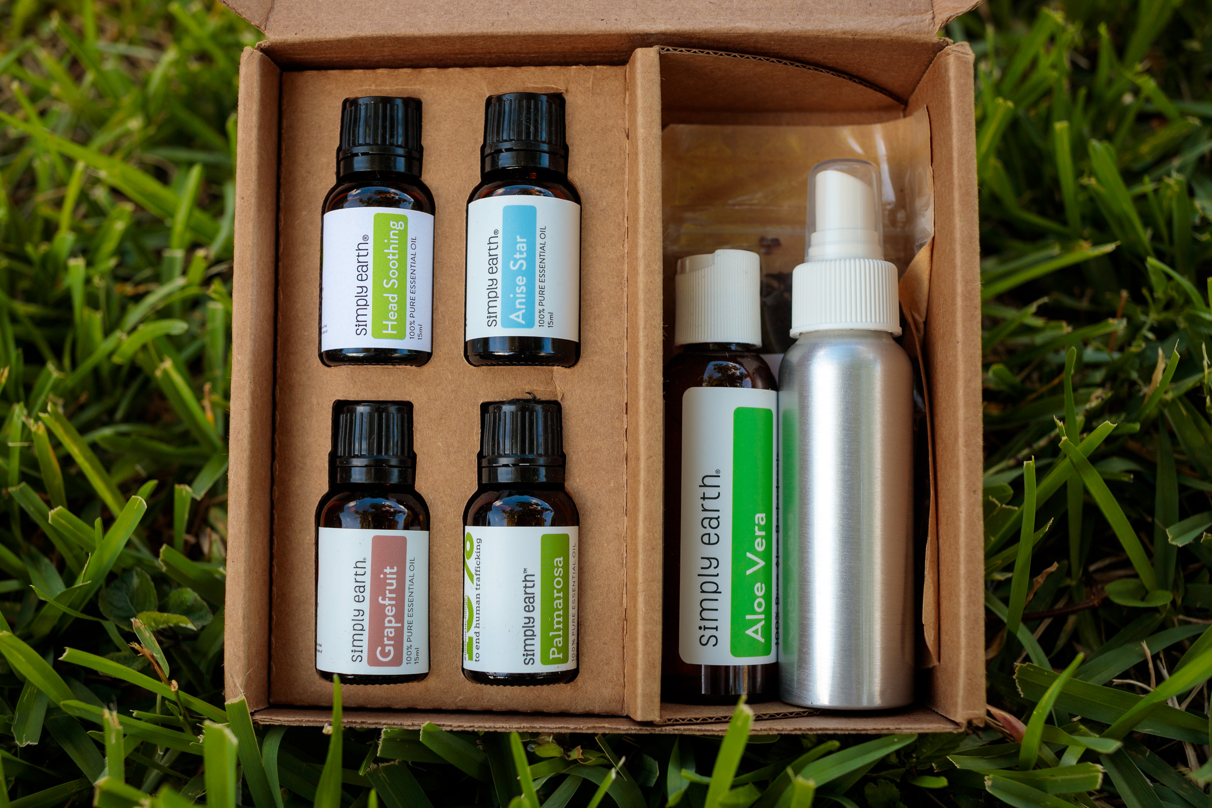 Simply Earth June 2019 Essential Oil Recipe Box